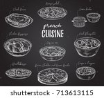 french cuisine. collection of... | Shutterstock .eps vector #713613115