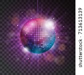 Vector Shiny Disco Ball...