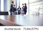 team young professionals having ... | Shutterstock . vector #713615791