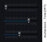volume slider. black interface. ...