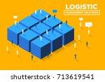 vector creative business... | Shutterstock .eps vector #713619541