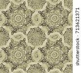 ethnic seamless pattern.... | Shutterstock . vector #713621371