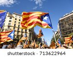 independence manifestation in... | Shutterstock . vector #713622964