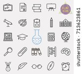education line icon set | Shutterstock .eps vector #713623861