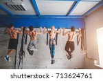 sport  fitness  exercising and... | Shutterstock . vector #713624761