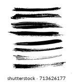 grunge paint stripe . vector... | Shutterstock .eps vector #713626177