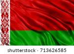 belarus flag drapery | Shutterstock . vector #713626585