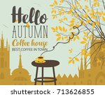 vector banner on the coffee... | Shutterstock .eps vector #713626855