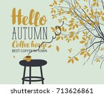 vector banner on the coffee... | Shutterstock .eps vector #713626861