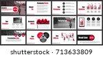 business presentation slides... | Shutterstock .eps vector #713633809