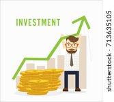vector growth concept in flat... | Shutterstock .eps vector #713635105