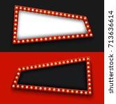 vector modern retro billboard... | Shutterstock .eps vector #713636614
