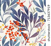 seamless floral pattern.... | Shutterstock . vector #713637919