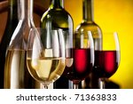 Still Life With Wine Bottles...
