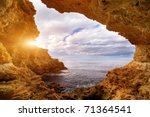 sunset into grotto. nature... | Shutterstock . vector #71364541