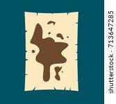 treasure hunt map flat vector | Shutterstock .eps vector #713647285
