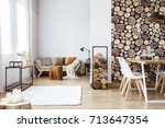 Wooden log texture wallpaper in ...