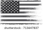 grunge american flag.vector...   Shutterstock .eps vector #713647837