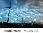 smart energy and... | Shutterstock . vector #713649211