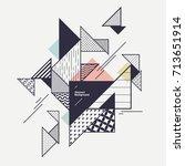 abstract modern geometric poster | Shutterstock .eps vector #713651914