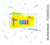final sale poster  banner or... | Shutterstock .eps vector #713653111