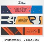 vector illustration retro... | Shutterstock .eps vector #713653159