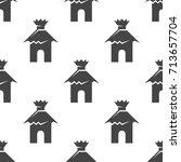 hut seamless pattern. vector... | Shutterstock .eps vector #713657704