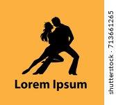 latin dancers logo. suitable...   Shutterstock .eps vector #713661265