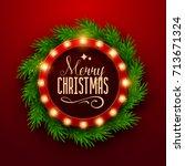 christmas background. retro... | Shutterstock .eps vector #713671324