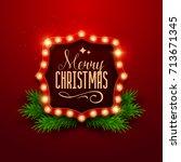 christmas background. retro... | Shutterstock .eps vector #713671345