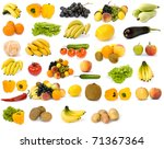 collection of fruit on a white... | Shutterstock . vector #71367364