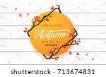 autumn calligraphy. seasonal... | Shutterstock .eps vector #713674831