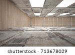 abstract  concrete and wood... | Shutterstock . vector #713678029