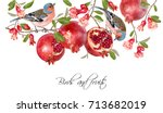 vector illustration with birds... | Shutterstock .eps vector #713682019