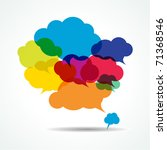vector bubbles for speech  ... | Shutterstock .eps vector #71368546