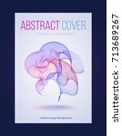 abstract book cover with bright ... | Shutterstock .eps vector #713689267