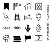 direction icons set. set of 16... | Shutterstock .eps vector #713690581