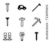 hardware icons set. set of 9... | Shutterstock .eps vector #713690641