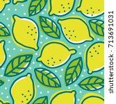 vector vintage seamless pattern ... | Shutterstock .eps vector #713691031
