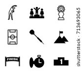 competition icons set. set of 9 ... | Shutterstock .eps vector #713693065