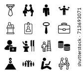 businessman icons set. set of... | Shutterstock .eps vector #713693071