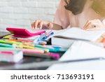 beautiful asian women are...   Shutterstock . vector #713693191