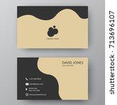 vector business card template.... | Shutterstock .eps vector #713696107