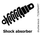 shock absorber icon. simple... | Shutterstock .eps vector #713696497