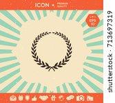 laurel wreath   elegant symbol | Shutterstock .eps vector #713697319