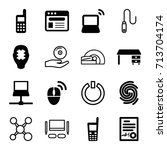 computer icons set. set of 16...   Shutterstock .eps vector #713704174