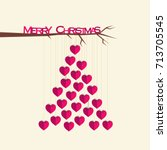creative christmas tree design  ... | Shutterstock .eps vector #713705545