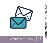 mail outline icon. workspace...