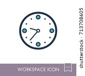 clock outline icon. workspace...