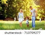 happy young couple spending... | Shutterstock . vector #713709277